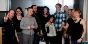Her er gjengen som var med å stifte Vegan Runners Stavanger 05.01.13. Og Veganmannen/Sporty Spice