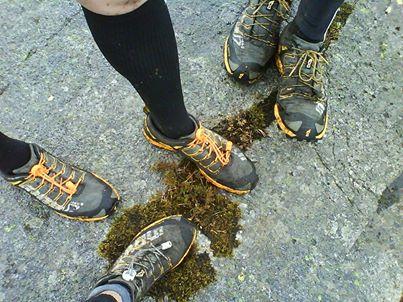 Veterangruppa i Vegan Runners med matchende sko