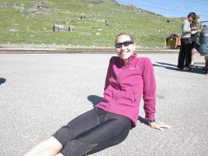 Lykkelig etter å ha kommet i mål på 1. etappe (foto: Sara)