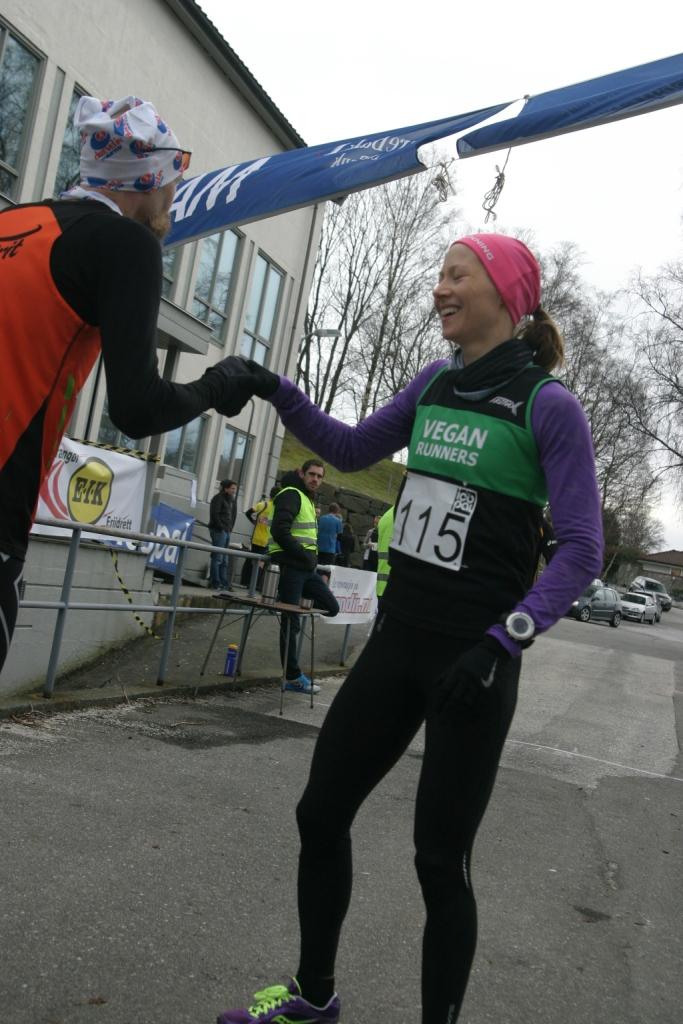 Jeg klarte bare nesten å ta igjen Gunnar fra Spirit i dag (på Sola slo jeg ham mer eller mindre på målstreken). Foto: Einar Søndeland.