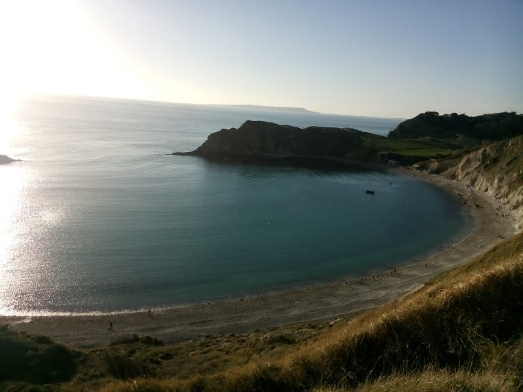 Innspurten: ned bakken, langs stranda og så oppoverbakke til mål.