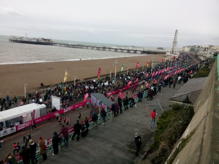 Målområdet med Brighton Pier i bakgrunnen.