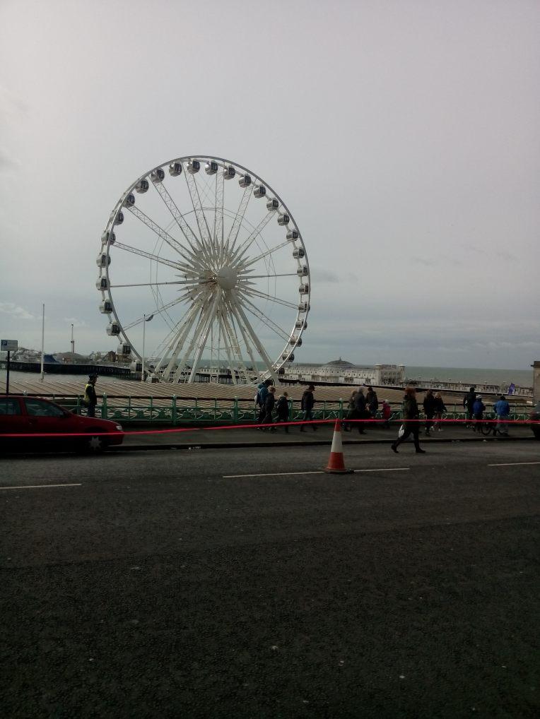 Brighton Eye, et av landemerkene vi løp forbi.