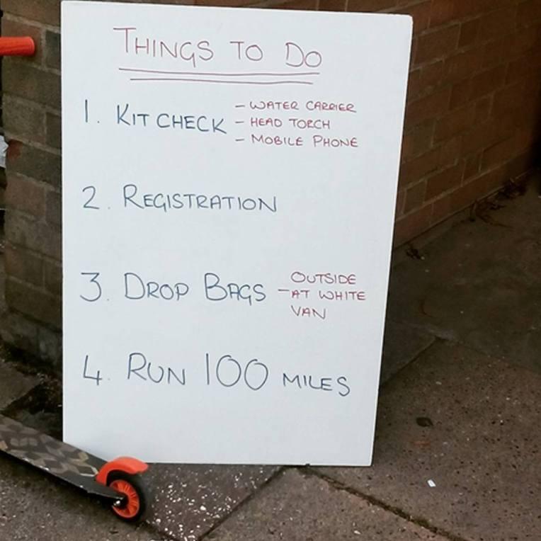 Centurion's pre-race checklist. Easy! (photo: Sara)