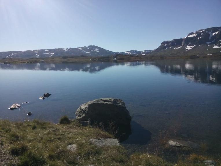 10.9.2016, når du kommer i mål etter å ha løpt 45 km fra Suldal til Haukeliseter, kan du nye denne utsikten.